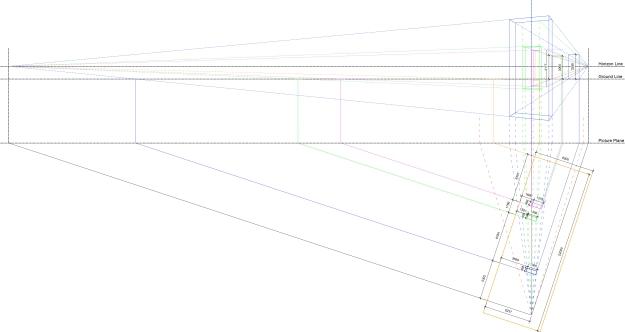 Nauman double doors-Reverse perspective-dims