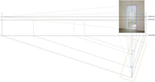 Nauman double doors-Reverse perspective