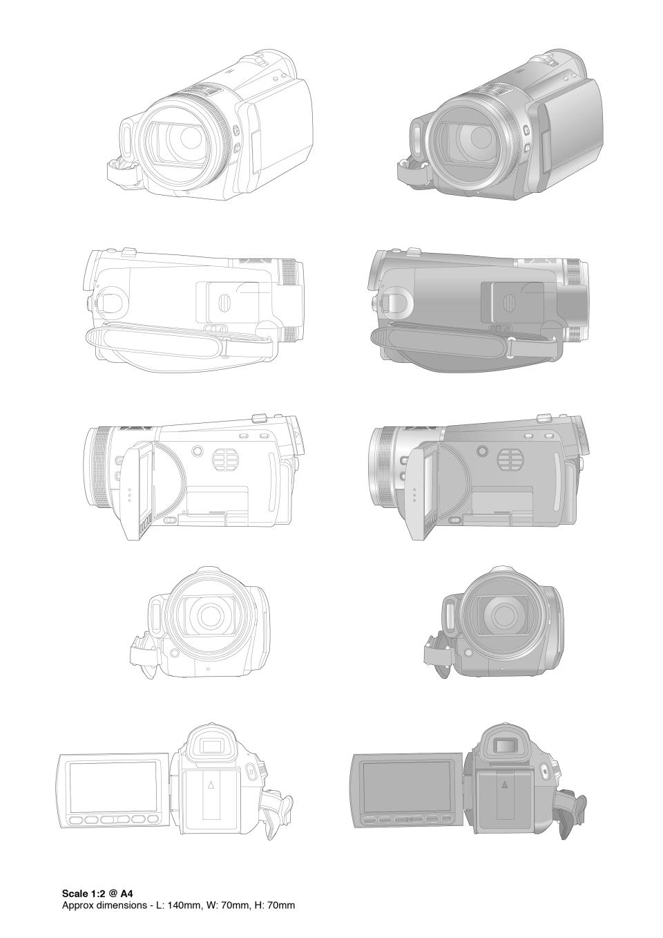 PanasonicVideoCameraDrawings-A4_1-2